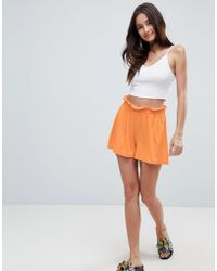 ASOS DESIGN - Asos Culotte Shorts With Paperbag Waist - Lyst