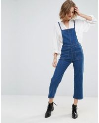 First & I - First And I Denim Jumpsuit - Lyst