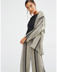 First & I - Printed Kimono Jacket - Lyst
