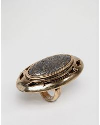 Low Luv by Erin Wasson - Gold Plated Stone Ring - Lyst