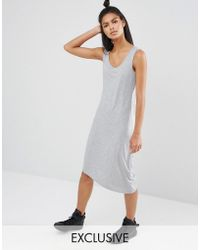 Nocozo - Grey Jersey Dress - Lyst