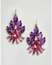 Little Mistress - Jewelled Drop Earrings - Lyst