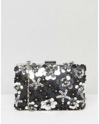Chi Chi London - 3d Floral Embellished Clutch Bag - Lyst