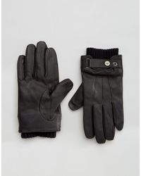 Armani Jeans - Rmani Jeans Leather Gloves - Lyst