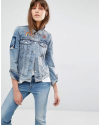 Levi's - Levi's Embroidered Patch Denim Jacket - Lyst