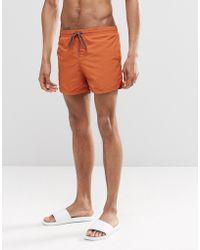 Pull&Bear - Swim Shorts In Orange - Lyst