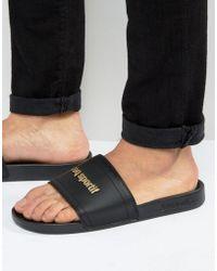 Le Coq Sportif - Slider Flip Flops In Black 1621966 - Lyst