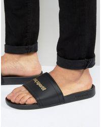 Le Coq Sportif - Slider Flip Flops In Black 1621966 - Black - Lyst