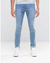 ADPT - Jeans In Skinny Fit Washed Denim - Lyst