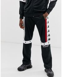 a2886afb911c Kappa - Authentic Baltas jogger With Poppers And Large Logo Taping In Black  - Lyst