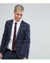 Heart & Dagger - Super Skinny Suit Jacket In Fleck Grid - Lyst