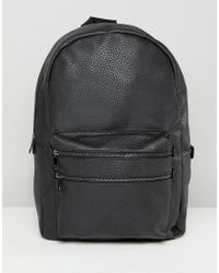 New Look - Backpack With Double Front Zip In Black - Lyst