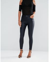 Lipsy - Coated Skinny Jeans - Lyst
