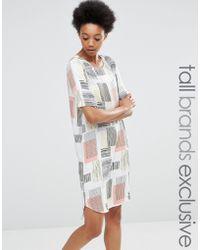 ADPT - Dpt Tall Graphic Square Print Tee Dress - Lyst