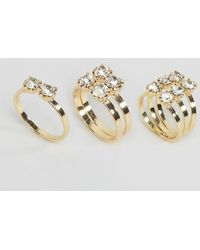 Pieces   Diane Stacking Rings   Lyst