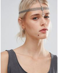 Pieces - Multi Chain Head Harness - Lyst