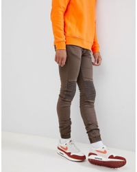 Sixth June - Skinny Fit Biker Jeans - Lyst