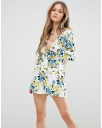 Madam Rage - Playsuit In Floral Print - Lyst
