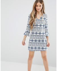 Madam Rage - Dress With Frill Sleeves - Lyst