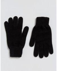 Glen Lossie - Cashmere Glove In Black - Black - Lyst