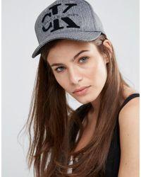 CALVIN KLEIN 205W39NYC - Logo Cap In Charcoal Grey - Charcoal Grey - Lyst