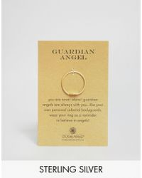 Dogeared - Gold Plated Guardian Angel Wing Reminder Ring - Lyst