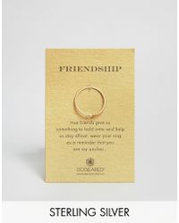 Dogeared - Gold Plated Friendship Anchor Reminder Ring - Lyst