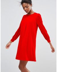 Traffic People - Long Sleeve Shift Dress - Lyst