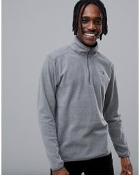 The North Face - 100 Glacier 1/4 Zip Fleece In Grey - Lyst