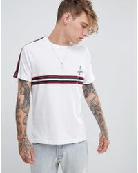 Brooklyn Supply Co. - T-shirt With Sleeve And Chest Taping - Lyst