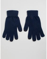 ASOS Touch Screen Gloves In Recycled Polyester - Blue