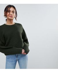 ASOS - Tall Chunky Jumper In Crop With Volume Sleeve - Lyst