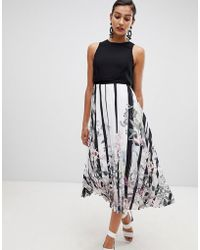 Coast - Bailey Print Pleated Midi Dress - Lyst