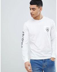 Polo Ralph Lauren - Nautical Back & Sleeve Logo Print Long Sleeve Top In White - Lyst