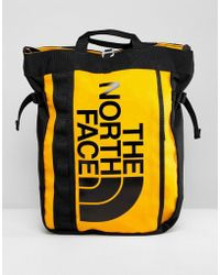 The North Face - Base Camp Tote Bag In Yellow - Lyst