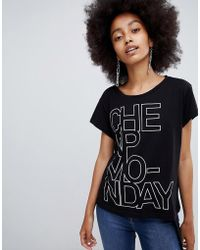 Cheap Monday - Concrete Logo Have T-shirt - Lyst