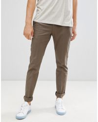 Reiss - Slim Fit Smart Tapered Chino In Stone - Lyst