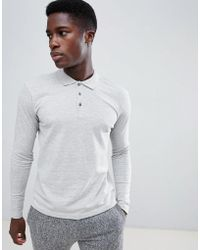 SELECTED - Long Sleeve Polo Shirt In Slim Fit - Lyst