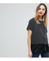 ASOS - Nursing Woven Double Layer Top In Spot - Lyst