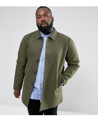 ASOS - Plus Shower Resistant Single Breasted Trench Coat In Khaki - Lyst