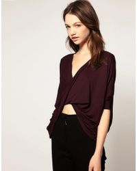 Wal-G - Twisted Jersey Top - Lyst