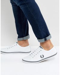 Fred Perry - Kingston Leather Trainers - Lyst