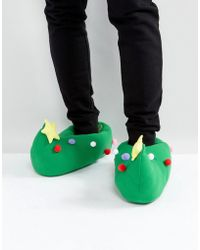 Dunlop - Holidays Tree Slippers - Lyst