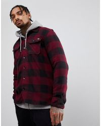 Dickies - Sacremento Checked Shirt In Maroon - Lyst
