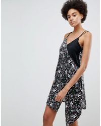 N12H - Call Me In The Morning Floral Contrast Slip Dress - Lyst
