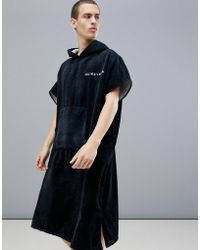 Quiksilver - Hoody Towel In Black - Lyst