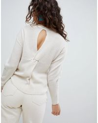 Mango - Open Back Light Weight Jumper - Lyst