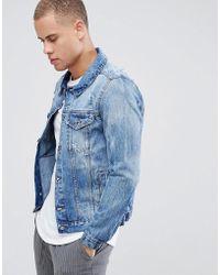 Threadbare - Vintage Ripped Denim Jacket - Lyst