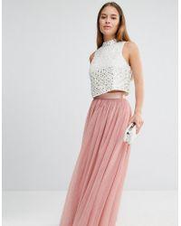 True Decadence - All Over Tulle Full Maxi Skirt - Lyst