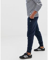 Original Penguin - Icon Logo Cuffed joggers Slim Fit In Navy - Lyst